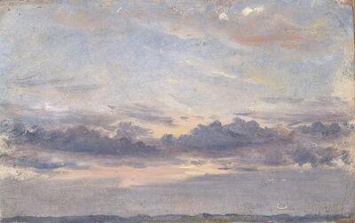 John Constable, 'A Cloud Study, Sunset', ca. 1821