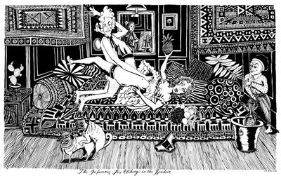 Le Gun, 'The Infamous Sex Etching in The Boudoir', 2014