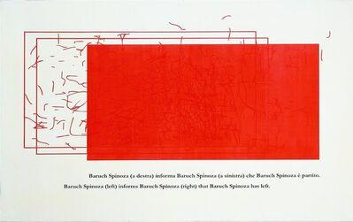 Emilio Isgrò, 'Spinoza', 2002