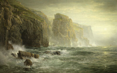 William Trost Richards, 'The Shores of Bude, Cornwall', 1885