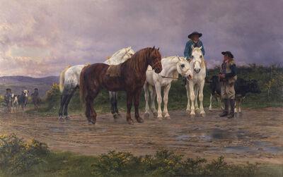 Rosa Bonheur, 'Pyrenees Farmers, Market Bound', 1884