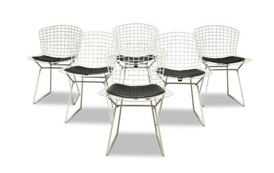 Harry Bertoia, 'a set of six white 'Wire Chairs'', c. 1960 -1970