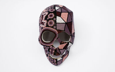 "Ariel Rojo, 'Huichol Skull from the series ""Losing my America""', 2014"