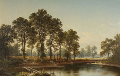 David Johnson, 'Young Elms at West Campton, New Hampshire', 1865