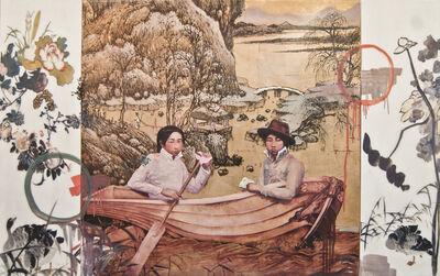 Hung Liu, 'Cruise Triptych', 2014