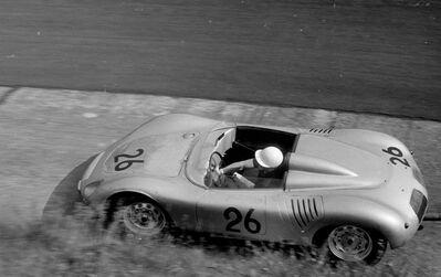 Jesse Alexander, 'Jo Bonnier, Porsche RSK in the Karussell, Nürburgring, Nürburg, Germany', 1960