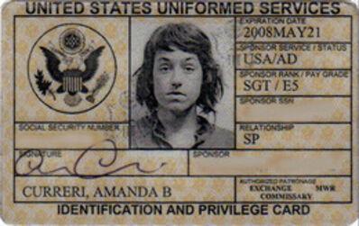 Amanda Curreri, 'Identity and Privilege Card, Expired', 2011