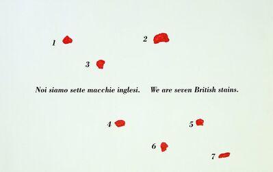 Emilio Isgrò, 'British', 1998
