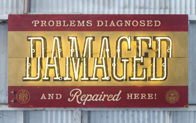 Shepard Fairey (OBEY), 'Damaged Repair Shop', 2017