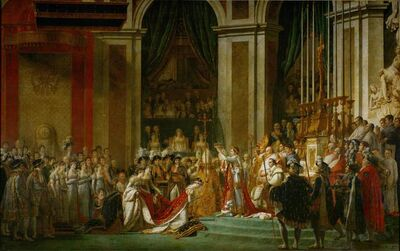 Jacques-Louis David, 'The Consecration of the Emperor Napoleon and the Coronation of Empress Joséphine on December 2, 1804', 1806-07