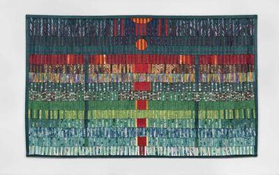Abdoulaye Konaté, 'Composition vert émeraude et rouge', 2016