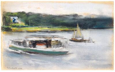 Max Liebermann, 'Schiffe auf der Aussenalster', undated