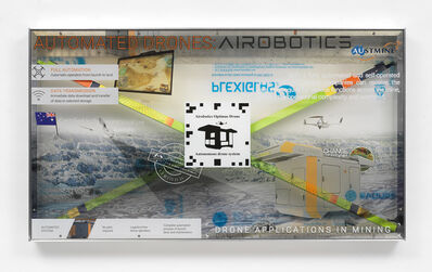 Simon Denny, 'Airobotics Optimus Autonomous drone and docking station promotion screen video token', 2019
