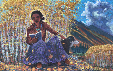 Shonto Begay, 'Lucy and the Aspen Glow', 2019