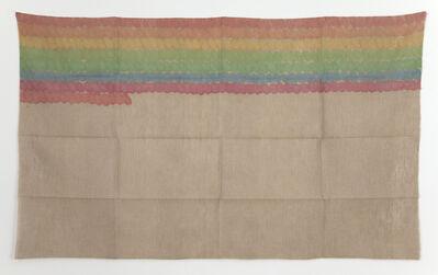 Giorgio Griffa, 'Segni orizzontali', 1975
