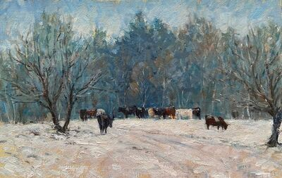 Tina Orsolic Dalessio, 'Cows in the Snow, Vermont', 2020