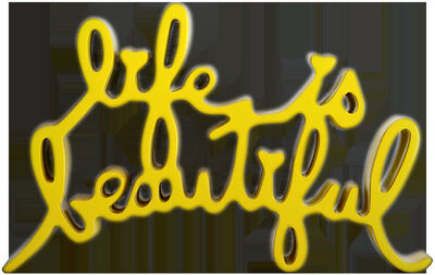 Mr. Brainwash, 'Life is Beautiful Sculpture (Yellow)', 2013