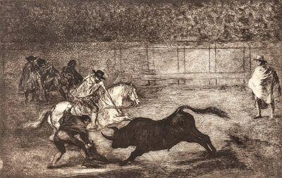 Francisco de Goya, 'Un Caballero en Plaza Quebrando un Rejoncillo con Ayuda de un Chulo', 1816