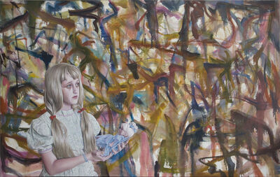 Jim Shaw, 'Oist Children Portraits (Girl & Doll)', 2011