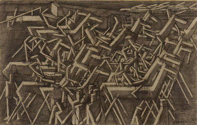 David Bomberg, 'Racehorses', 1913