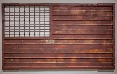 Marcos Ramírez ERRE, 'Stripes and Fence Forever (Homage to Jasper Johns)', 2017