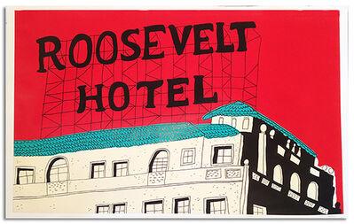 Marz Junior, 'Los Angeles Roosevelt Hotel - Red Horizontal', 2015