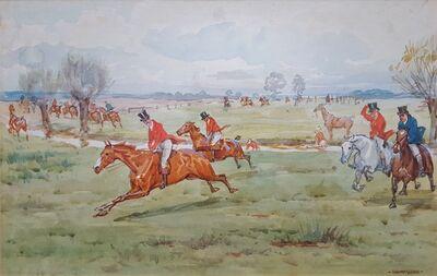 George Goodwin Kilburne II, 'Fox Hunting, On the Scent', ca. 1895