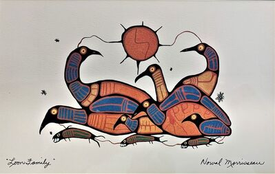Norval Morrisseau, 'Loon Family', ca. 2000