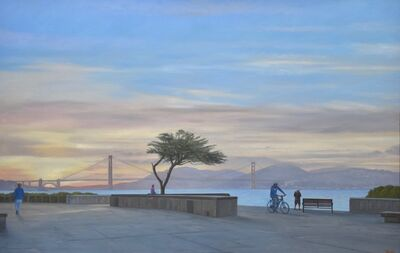 Willard Dixon, 'VIEW OF THE GATE - San Francisco with bicycle and bridge', 2020