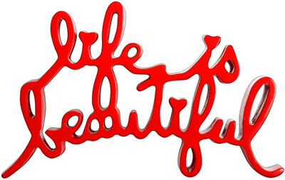 Mr. Brainwash, 'Life Is Beautiful (Red)', 2015