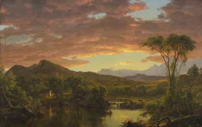 Frederic Edwin Church, 'A Country Home', 1854