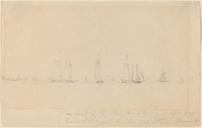 William Sidney Mount, 'On Board of the Stony Brook Packet', 1848
