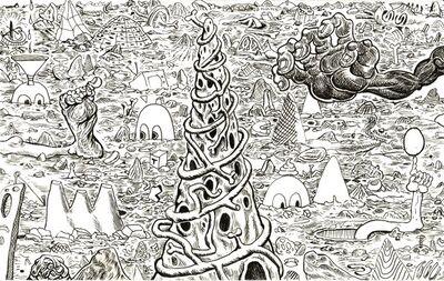 Trenton Doyle Hancock, 'Cave Scape #3', 2010