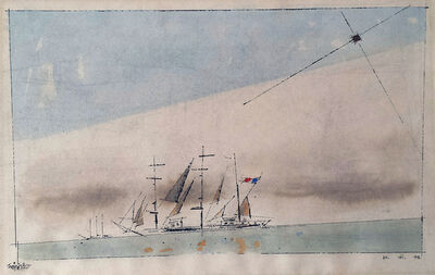 Lyonel Feininger, 'Untitled (French Barque under Staysail)', 1942