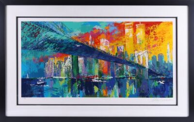 LeRoy Neiman, 'LeRoy Neiman Brooklyn Bridge Serigraph Signed Contemporary Art', 1995