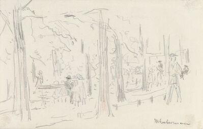 Max Liebermann, 'Spaziergänger im Berliner Tiergarten', ca. 1925