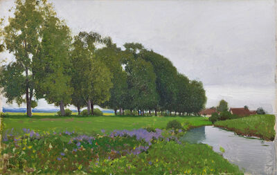 Ferdinand Brunner, 'Flowers at the Waterbank', ca. 1910