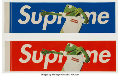 Supreme, 'Kermit Stickers (Red and Blue) (two works)'
