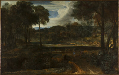 Gaspard Dughet, 'Landscape with figures', 17th century