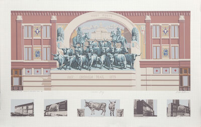 Richard Haas, 'Chisholm Trail Mural', 1985