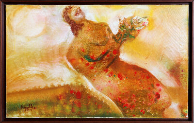 Juan Ripollés, 'Red Figure with Flowers', 1970