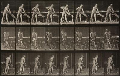 Eadweard Muybridge, 'Animal Locomotion: Plate 380 (Man Sawing Wood)', 1887