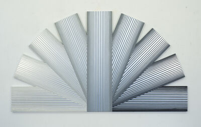 Richard Anuszkiewicz, 'Silver Rainbow with Grays', 1989
