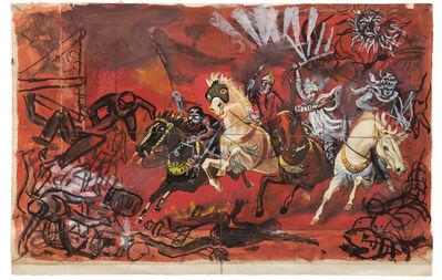 """Antonio Berni, 'Sin Título (Boceto para el mural Apocalipsis, 1981, Capilla San Luis Gonzaga, Las Heras, Prov. Buenos Aires). De la serie """"Apocalipsis y Crucifixiones""""', ca. 1980"""