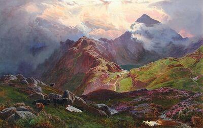 Sidney Richard Percy, 'Snowdon, from above Llyn Llydaw, North Wales', 1841-1864