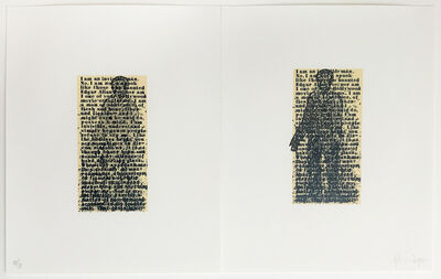 "Glenn Ligon, 'I am not an invisible man diptych from "" The Magic Magic Book"" by Ricky Jay', 1994"
