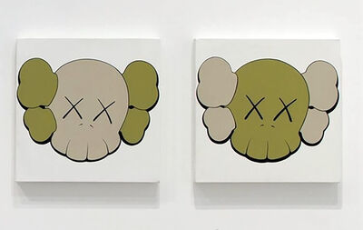 KAWS, 'Untitled (Camo Skulls - set of 2)', 2000