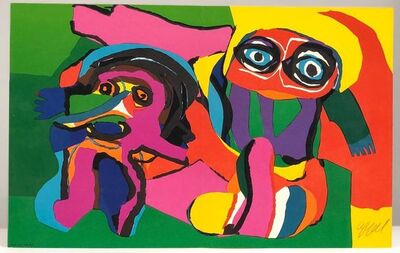 Karel Appel, 'Two Figures', ca. 1970