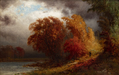 William M. Hart, 'A Windy Day in October', 1873