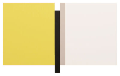 Scot Heywood, 'Sunyata – Yellow, Black, Canvas, White', 2016